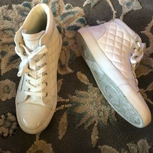 G by guess white high top sneakers
